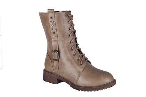 MSC Women  Synthetic Cream Boots
