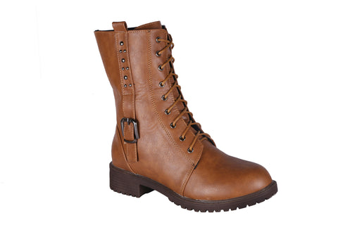 MSC Women  Synthetic Tan Boots