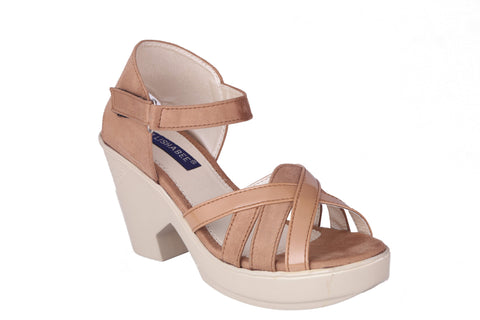 MSC Women Synthetic Beige Wedges