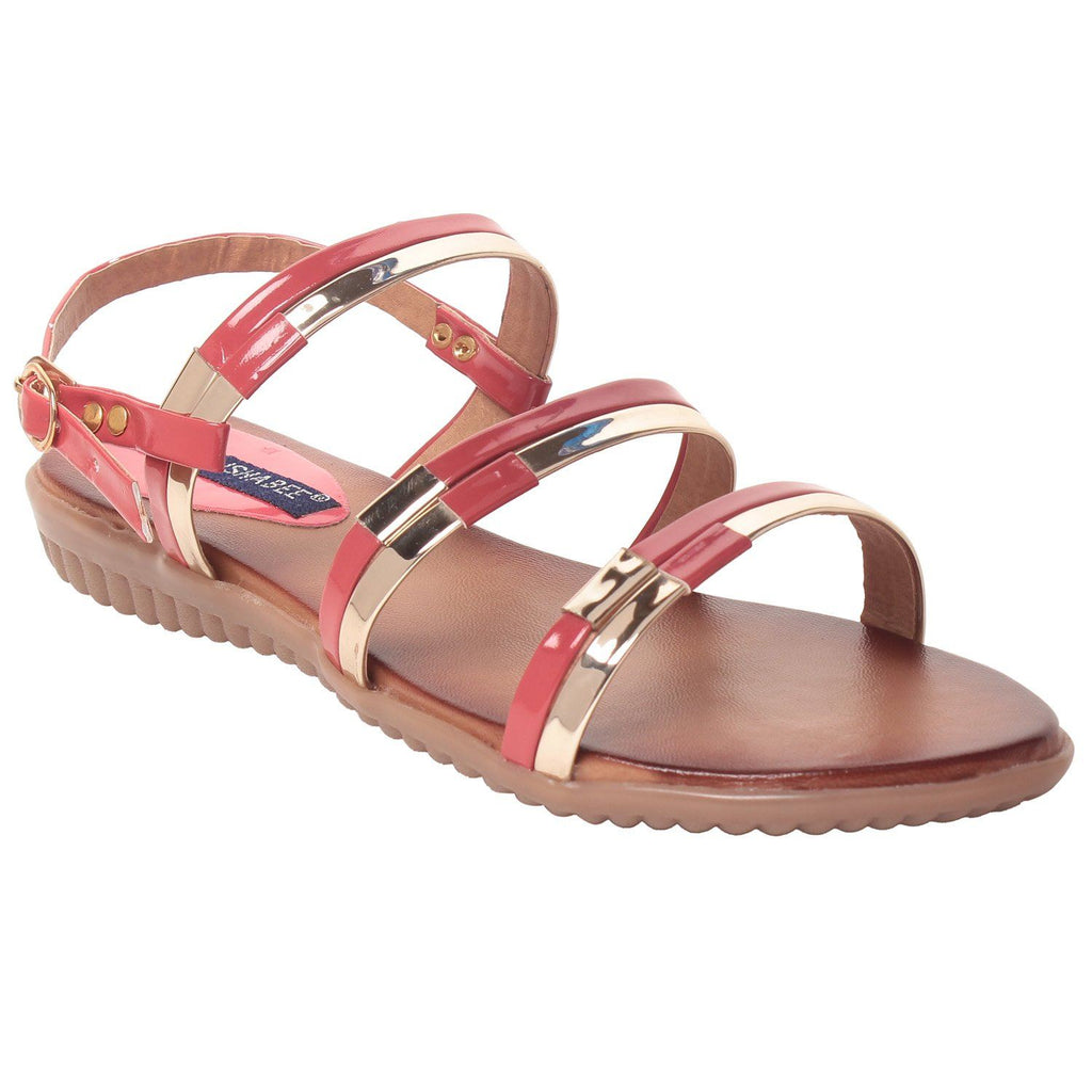 MSC Women Synthetic Pink Flat