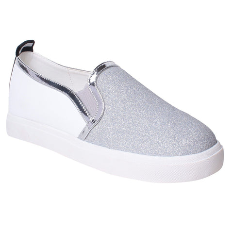 MSC Women Synthetic Silver Shoe