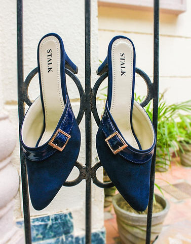 Blue Point Toe Mule Heel