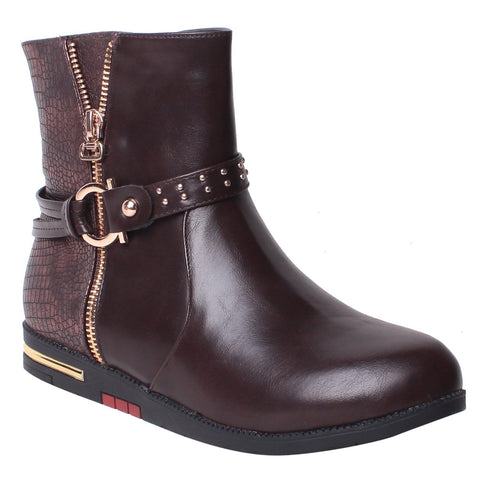 MSC Women Synthetic Brown Boot