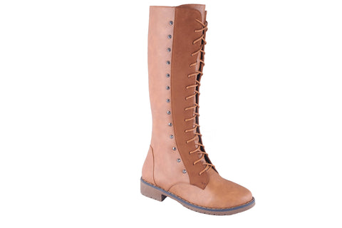 MSC Women Beige Synthetic Boots