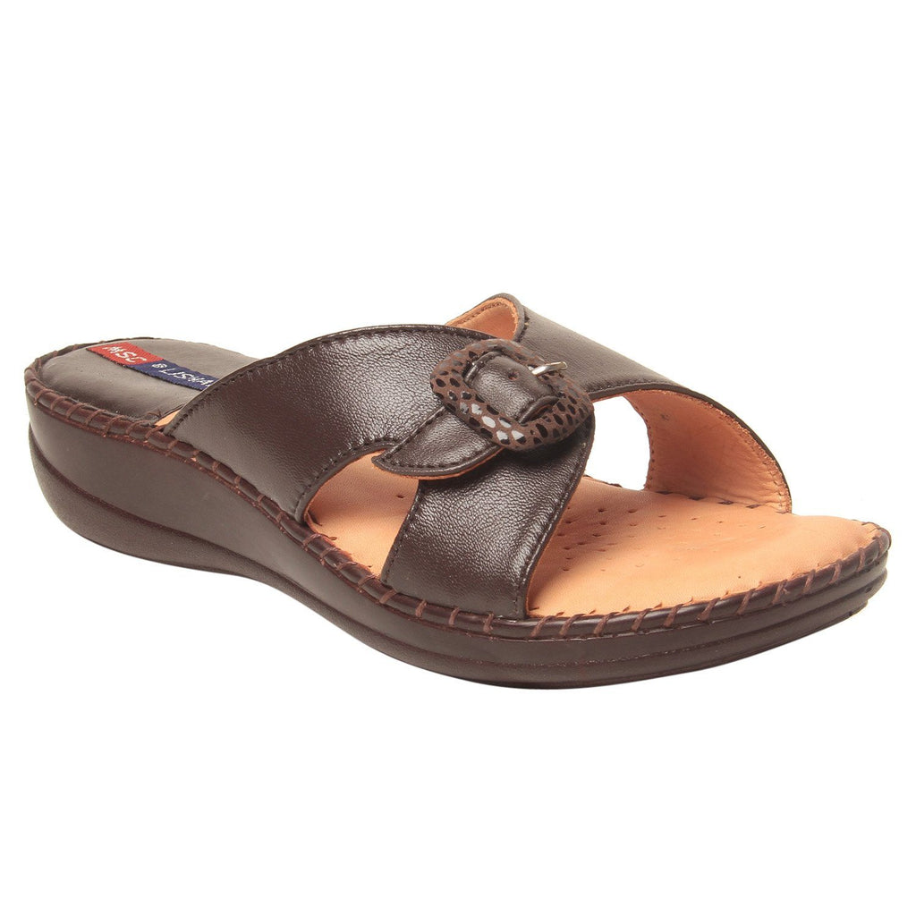 MSC Women Leather Brown Sandal