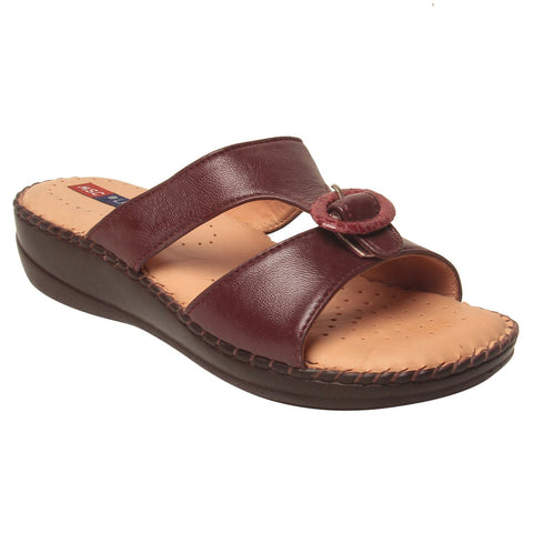MSC Women Brown Synthetic Sandal