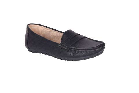 MSC Women Black Synthetic Loafer