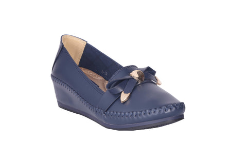 MSC Women Navy Synthetic Loafer