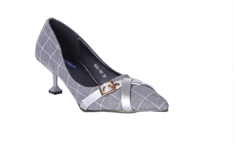 MSC Women Grey Synthetic Heels