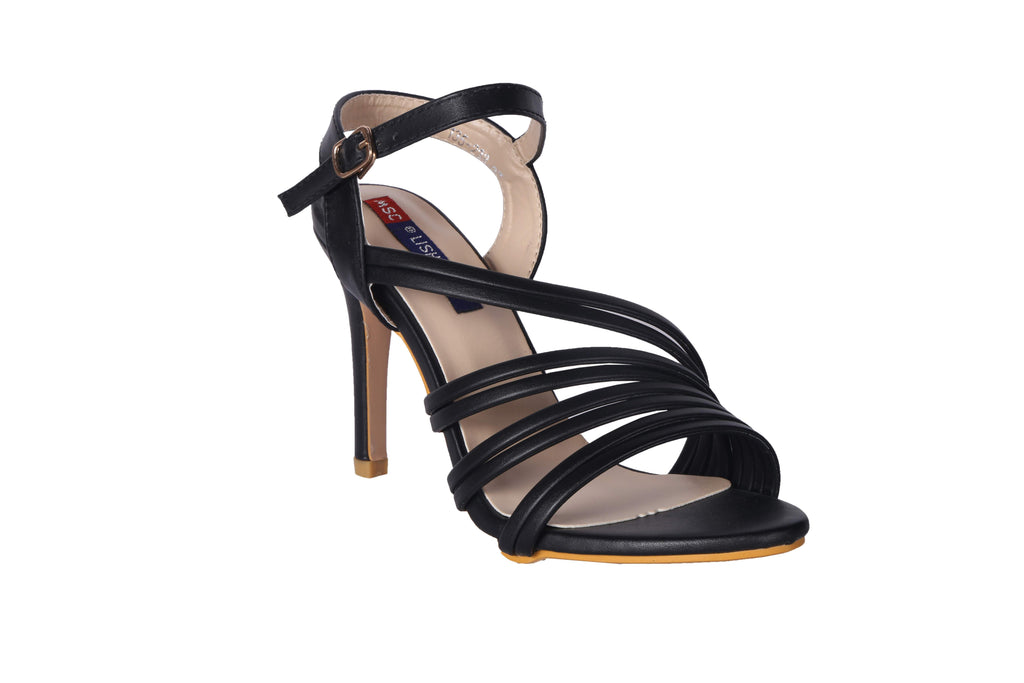 MSC Women Black Synthetic Heels