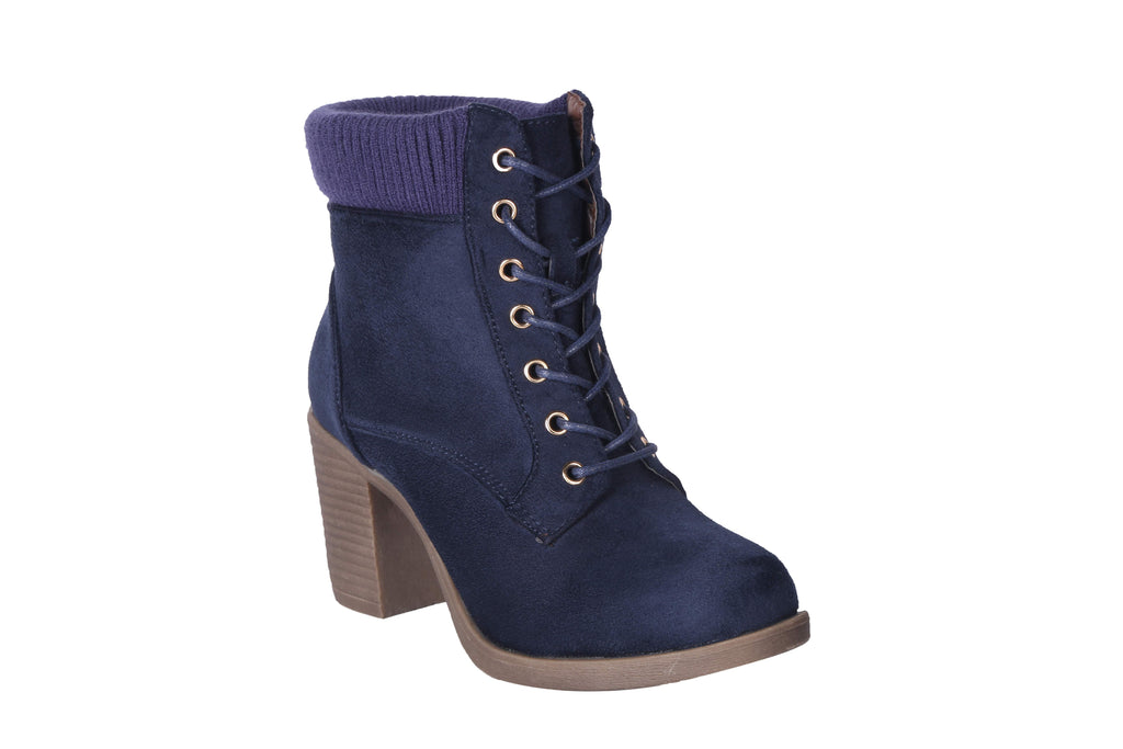 MSC Women Navy Synthetic Boots