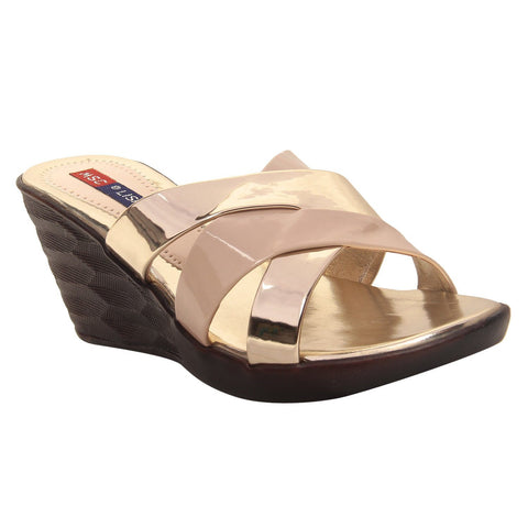 MSC Women Synthetic Cream wedges