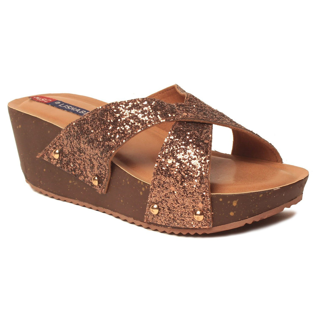 MSC Women Synthetic Gold Wedge
