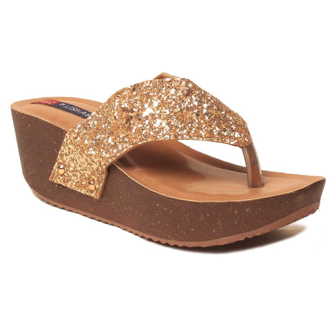 MSC Women Synthetic Copper Sandals