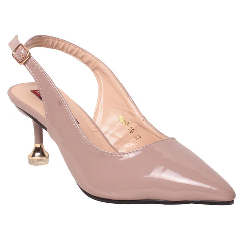 Msc Women Synthetic Cream Heels