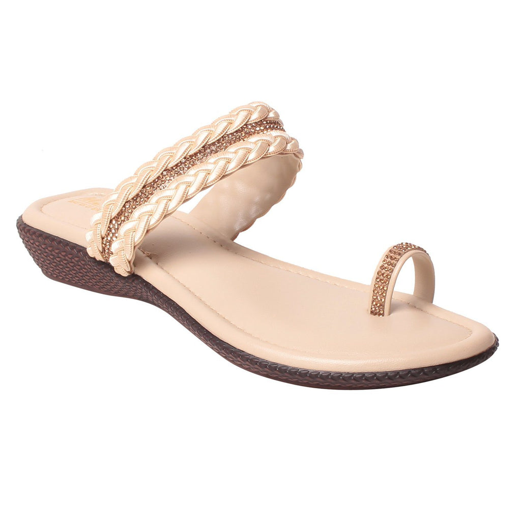 MSC Women Synthetic Cream Sandal