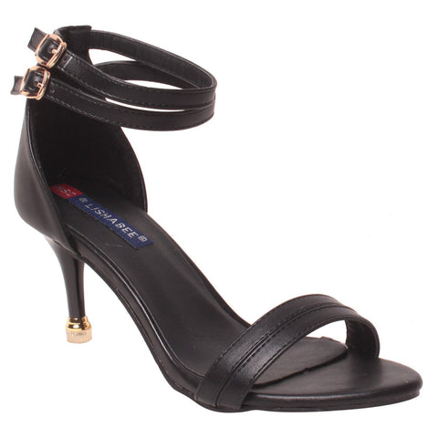 MSC Women Synthetic Black Heels