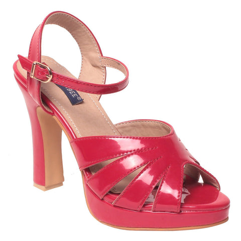 MSC Women Synthetic Pink Heel