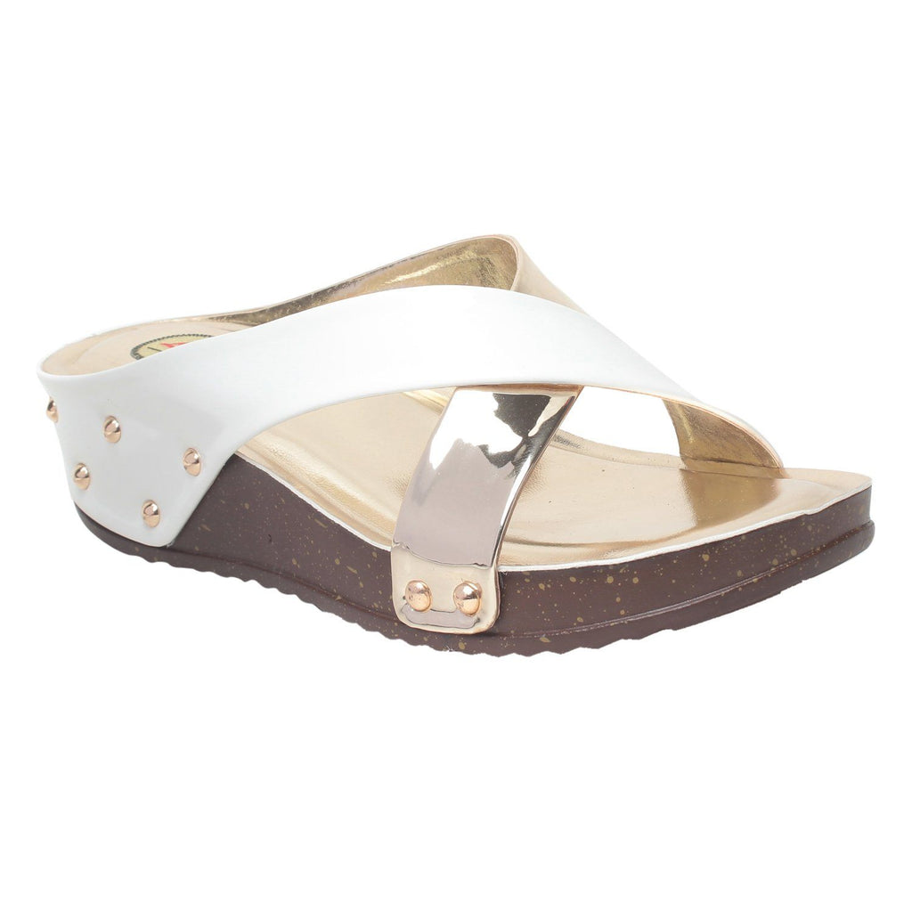 MSC Women Peach Synthetic Sandal