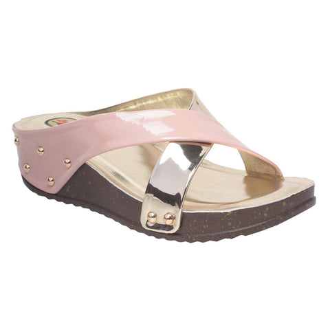 MSC Women Green Synthetic Sandal
