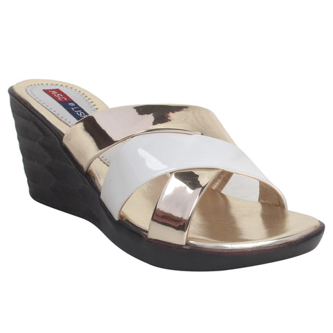 MSC Women Cream Synthetic Wedges