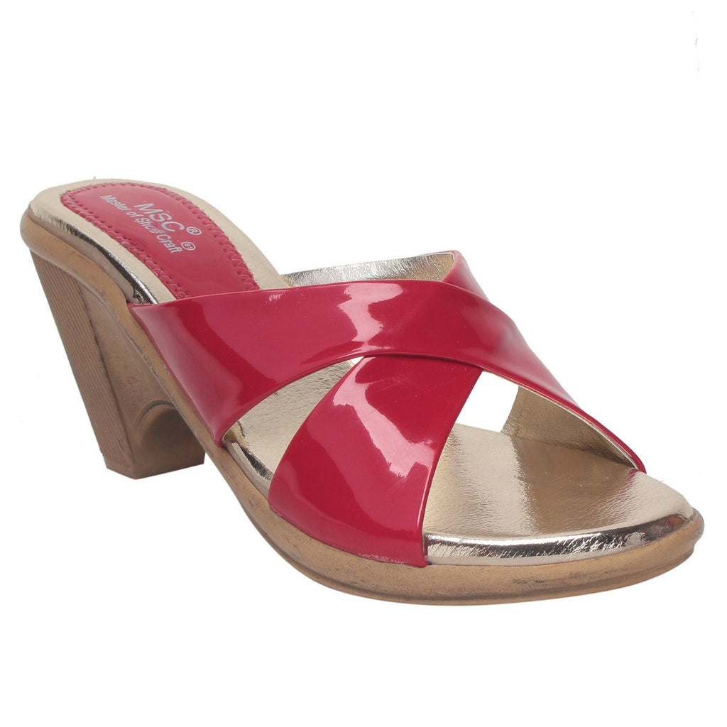 MSC Women Pink Synthetic Wedge