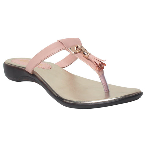 MSC Women Pink Synthetic Flats