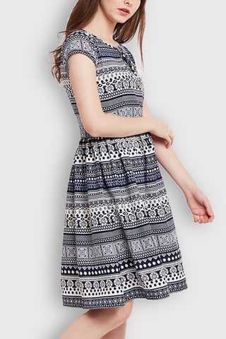Printed Beautiful Midi Dress