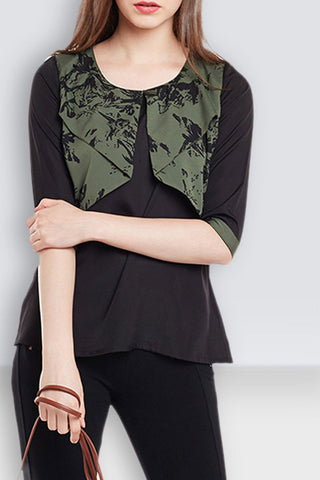 Three Fourth Sleeve Stylish Top