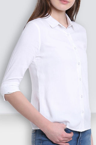 White Buttoned Collar Shirt