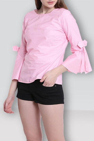 Lovely Peach Stylish Top