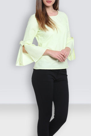 Light Yellow Stylish Top