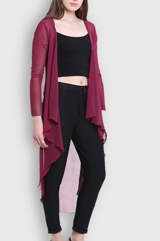 Graceful Violet Long Shrug