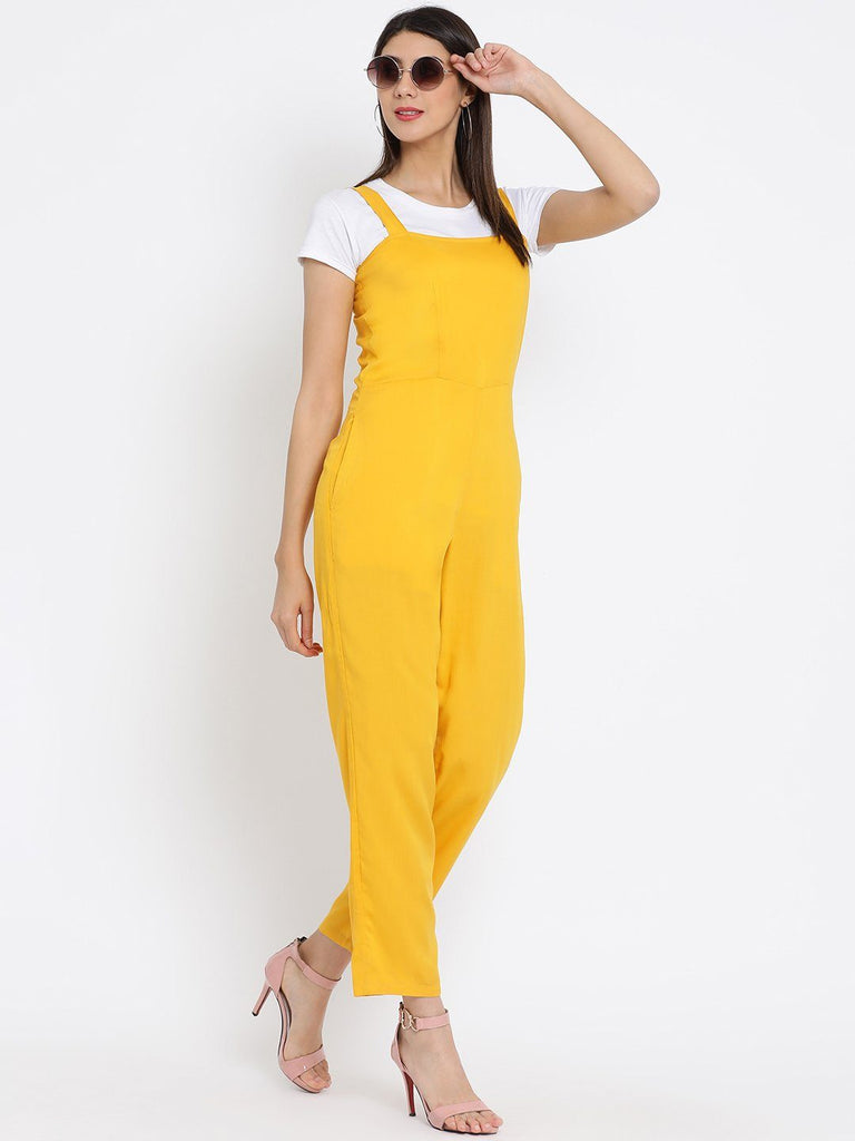 Mustard Yellow Solid Basic Jumpsuit