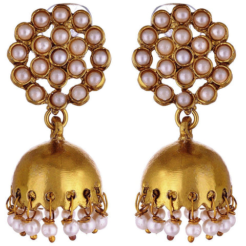 Kshitij Jewels Classic Gold Plated Jhumki Earring KJ005