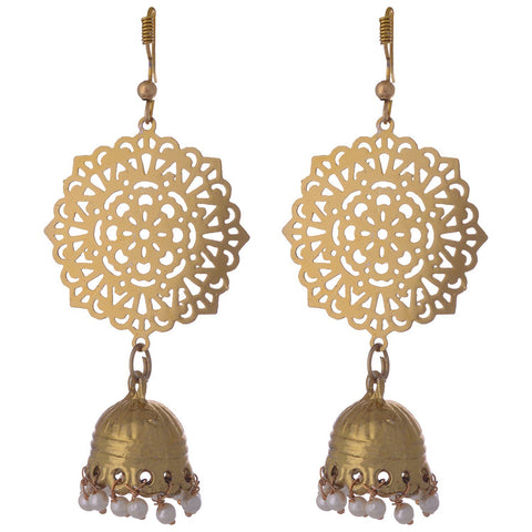 Kshitij Jewels Classic Gold Plated Jhumki Earring KJ007