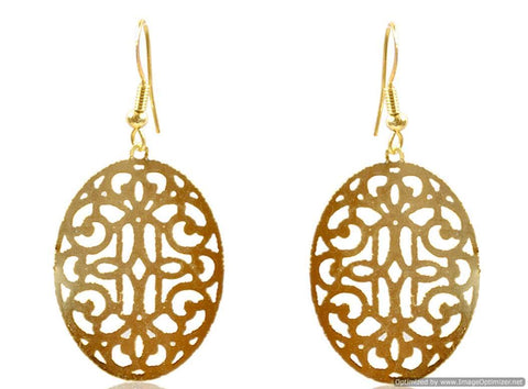 Kshitij Jewels Classic Gold Plated Hangging Earring KJ023