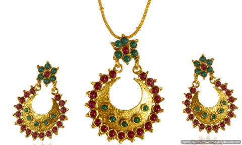 Kshitij Jewels Gold Plated Dangle Earringss for Wedding & Engagement Use, With Kundan Theme and Desi