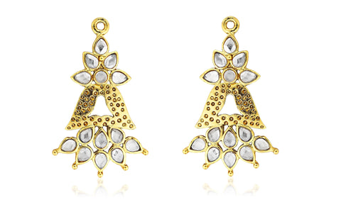 Kshitij Jewels Gold Metal Dangle & Drop Earrings For Women (KJ 263)