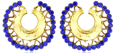 Kshitij Jewels Classic Semi Circle Gold Plated Stud Earring KJ273