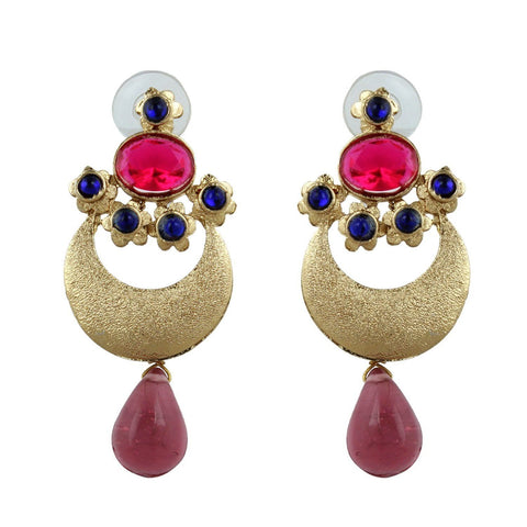 Kshitij Jewels Ethnic Gold Plated Stud Earring KJ284