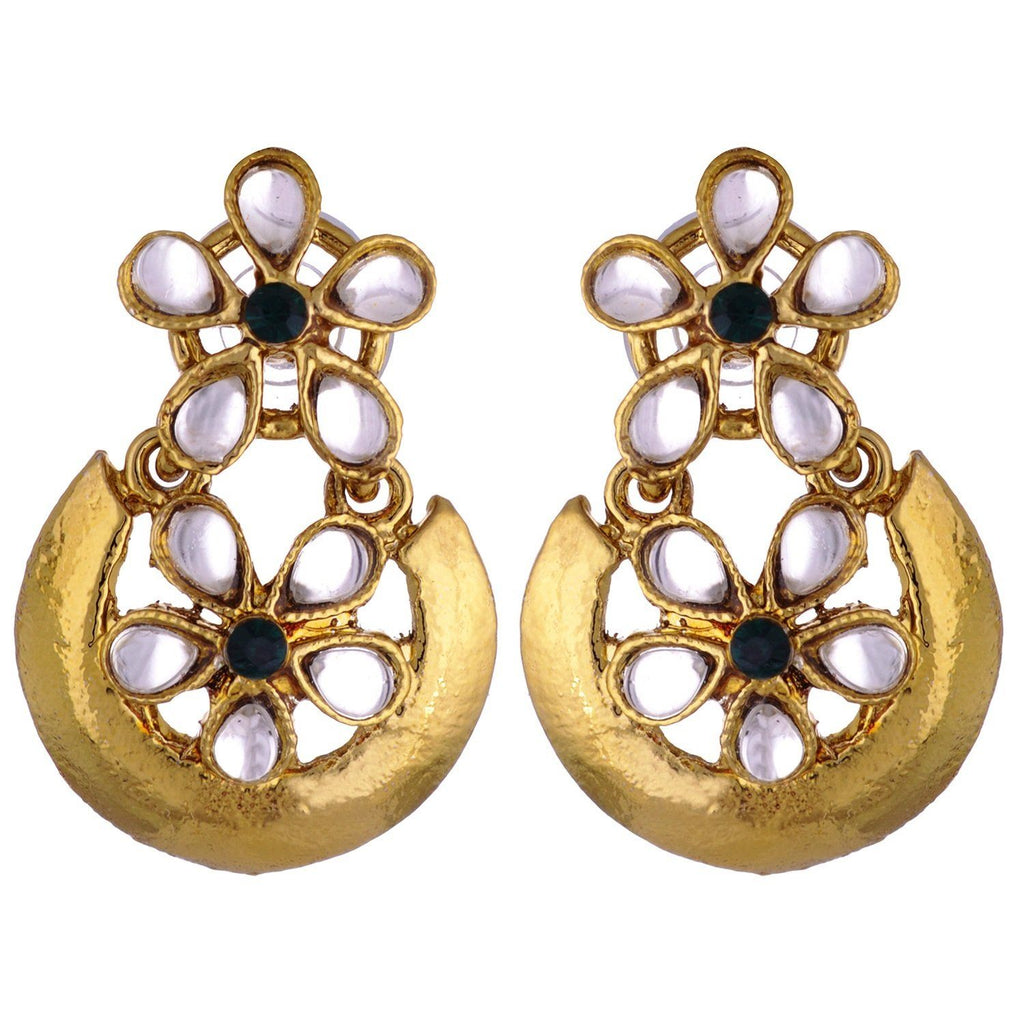 Kshitij Jewels Classic Floral Gold Plated Hangging Earring KJ298