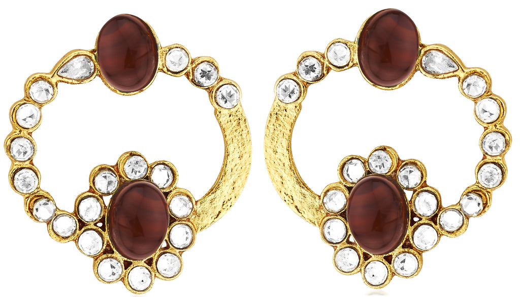 Kshitij Jewels Ethnic Gold Plated Stud Earring KJ309