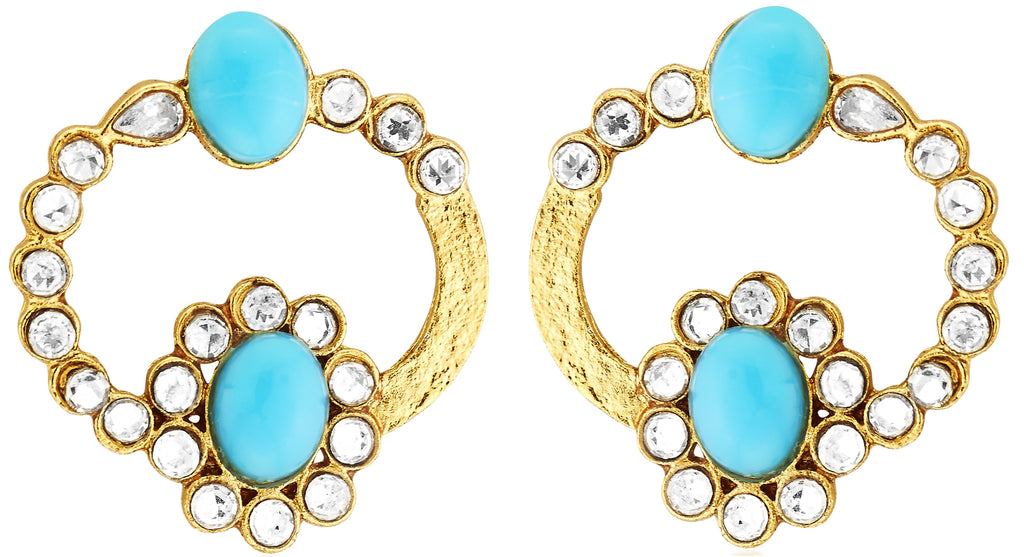 Kshitij Jewels Ethnic Gold Plated Stud Earring KJ310