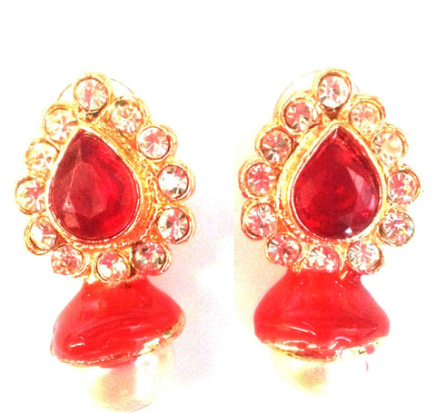 Kshitij Jewels Gold Plated Dangle Earringss for Workwear Use, With Meenakari Theme and Designer Coll