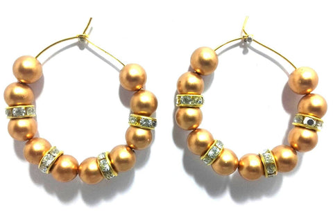 Kshitij Jewels Gold Plated Hoop Earringss for Everyday Use, With Kundan Theme and Designer Collectio