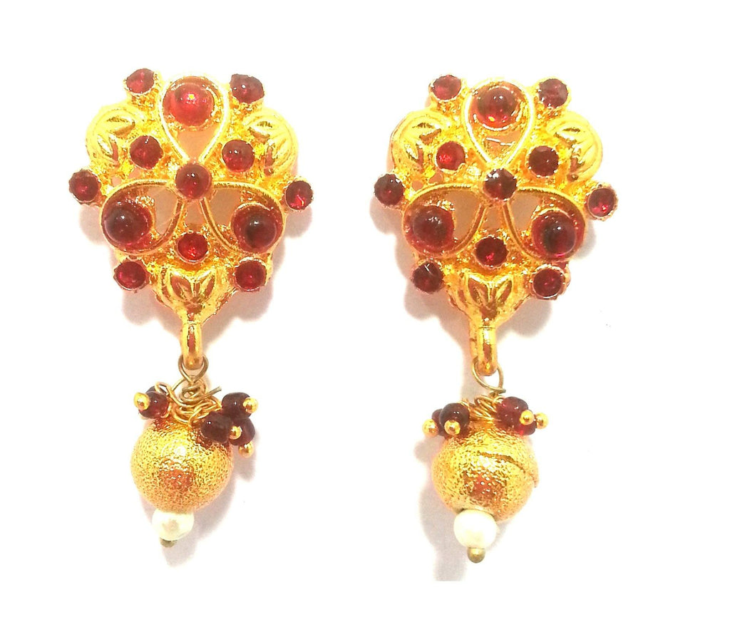 Kshitij Jewels Gold Plated Drop Earringss for Everyday Use, With Kundan Theme and Designer Collectio
