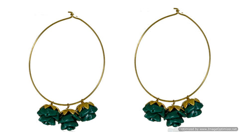 Kshitij Jewels Classic Gold Plated Hoop Earring KJM017
