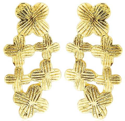 Kshitij Jewels Gold Metal Stud Earrings For Women (KJM 027)