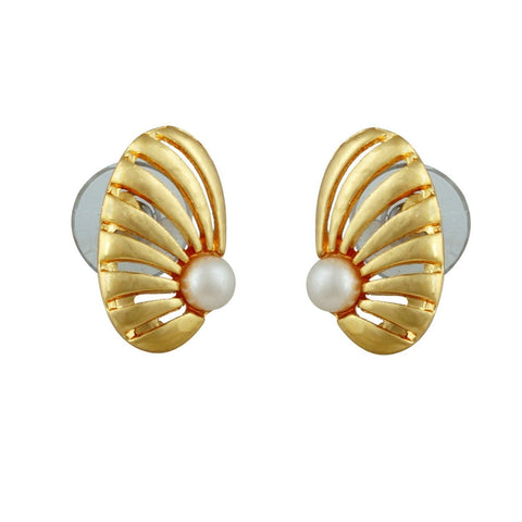 Kshitij Jewels Gold Metal Stud Earrings For Women (KJR 005)